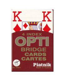 Piatnik 4 Index OPTI Bridge Karten rot