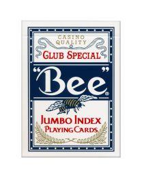 Bee Spielkarten Jumbo Index blau