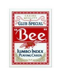 Bee Spielkarten Jumbo Index rot