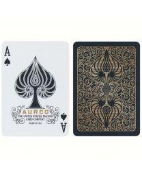Bicycle Aureo Black Spielkarten