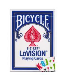 Bicycle E-Z-SEE LōVision Spielkarten blau