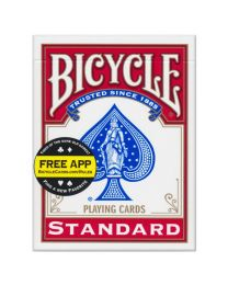Bicycle Deck Blankorücken rot