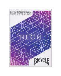 Bicycle Neon blaue Aurora Spielkarten Cardistry
