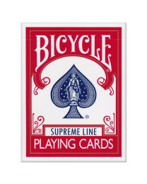 Bicycle Supreme Line Spielkarten rot