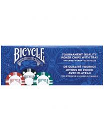 Bicycle Clay Pokerchips mit Chip Rack