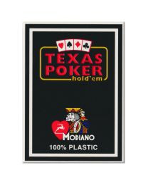 Plastik Spielkarten Modiano Texas Poker schwarz