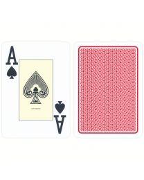 Casino Spielkarten Plastik Cartamundi rot