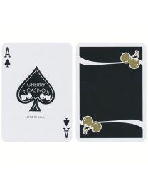 Cherry Casino Monte Carlo Spielkarten Schwarz und Gold