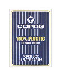 COPAG Spielkarten 2 Jumbo Eckzeichen blau