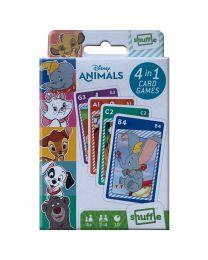 Disney Animals 4 in 1 Spielkarten Spiele
