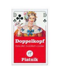 Doppelkopf Spielkarten französisches Bild Piatnik