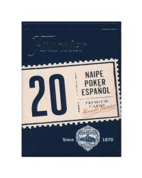 Spanische Karten Fournier Poker 20 blau