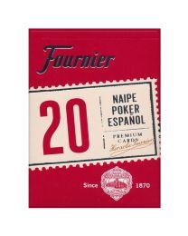 Spanische Karten Fournier Poker 20 rot