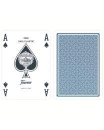 Plastik Poker Karten Fournier Standard blau