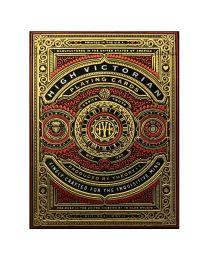 High Victorian Spielkarten rot