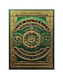 High Victorian Playing Cards grün
