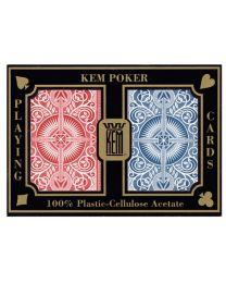 2-Pack Spielkarten KEM rot und blau