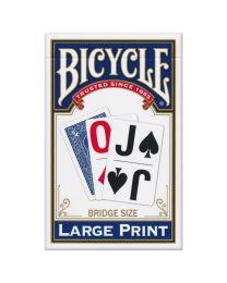 Bicycle Großdruck Spielkarten blau