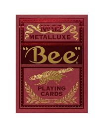 Bee Red Metalluxe Spielkarten