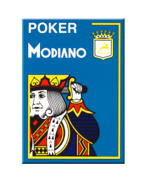 Modiano Karten Poker Cristallo 4 Eckzeichen hellblau