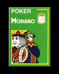 Modiano Karten Poker Cristallo 4 Eckzeichen hellgrün