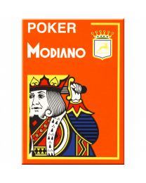 Modiano Karten Poker Cristallo 4 Eckzeichen orange