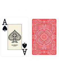Plastik Spielkarten Modiano Texas Poker rot