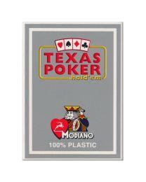 Plastik Spielkarten Modiano Texas Poker grau
