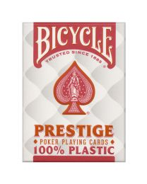 Bicycle Prestige Poker Spielkarten Plastik rot