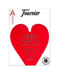 Plastik Poker Karten Fournier Standard rot