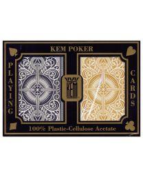 KEM Spielkarten Gold & Schwarz Doppelpack