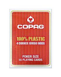 COPAG 4 Corner Jumbo Index Spielkarten rot