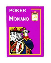 Modiano Karten Poker Cristallo 4 Eckzeichen violett