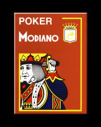 Modiano Karten Poker Cristallo 4 Eckzeichen braun