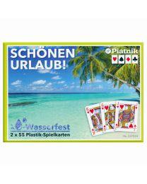 Schönen Urlaub! Plastik-Spielkarten Piatnik