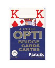 Piatnik 4 Index OPTI Bridge Karten blau