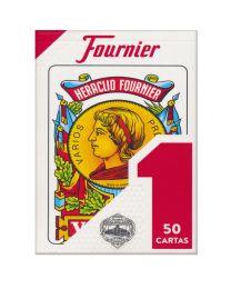 Spanische Spielkarten Baraja Española Nº 1 Fournier Rojo