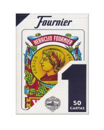 Spanische Spielkarten Baraja Española Nº 1 Fournier Azul