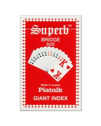 Piatnik Superb Bridge Size Spielkarten Riesen Index rot