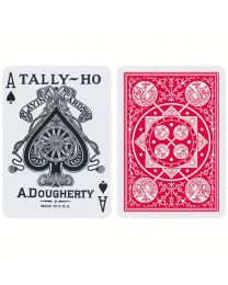 Tally-Ho Fan Back Spielkarten rot