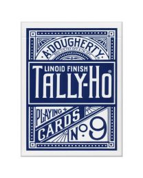 Tally-Ho Fan Back Spielkarten blau