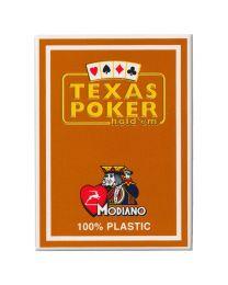 Plastik Spielkarten Modiano Texas Poker braun