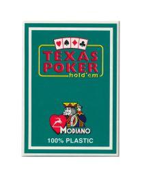 Plastik Spielkarten Modiano Texas Poker grün