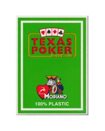 Plastik Spielkarten Modiano Texas Poker hellgrün