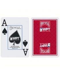 World Poker Tour Spielkarten Bicycle rot