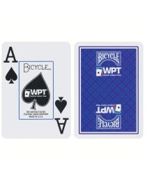 World Poker Tour Spielkarten Bicycle blau
