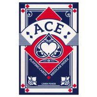 Ace Spielkarten regulärer Index Leinen Finish blau