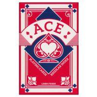 Ace Spielkarten regulärer Index Leinen Finish rot