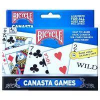 Bicycle Canasta Games Spielkarten 2er-Pack