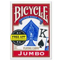Spielkarten Bicycle 88 Rider Back Jumbo Index rot